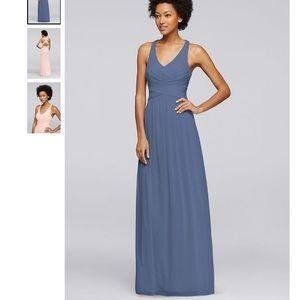 Steel Blue Bridesmaid dress - David's Bridal